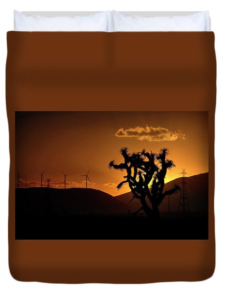 Duvet Cover featuring the photograph A Holy Joshua Tree by Peter Thoeny