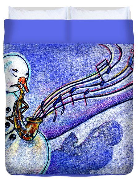 A Horn For Playing Duvet Cover