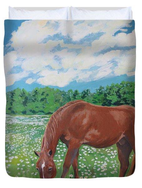 A Horse Named Dante Duvet Cover