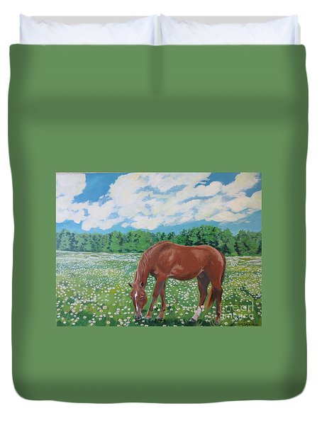 A Horse Named Dante Duvet Cover