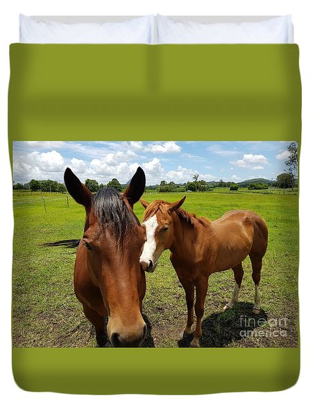 A Horse's Touch Duvet Cover