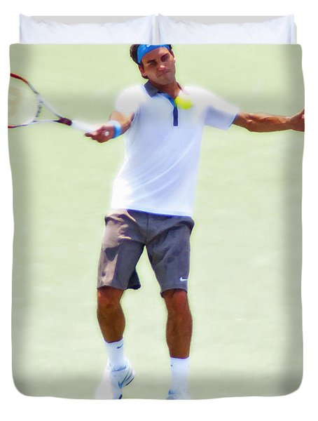 A Hug From Roger Duvet Cover