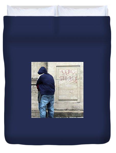 Duvet Cover featuring the photograph A Hug by Joe Jake Pratt