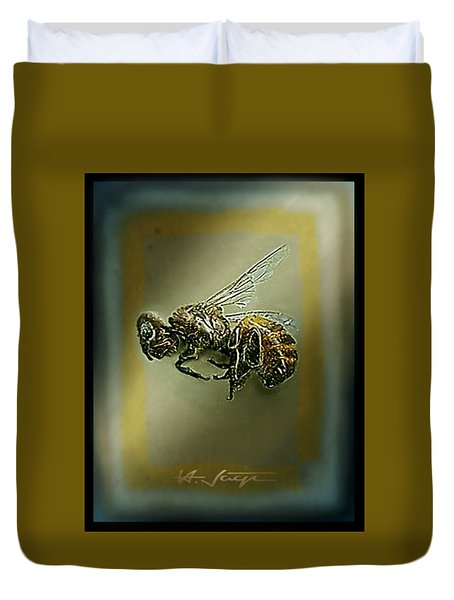 A Humble Bee Remembered Duvet Cover by Hartmut Jager