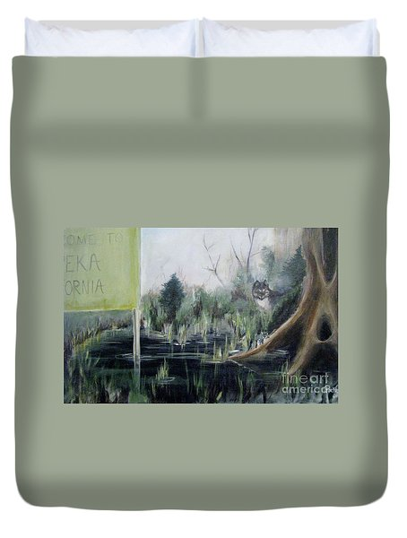 A Humboldt Holiday Duvet Cover