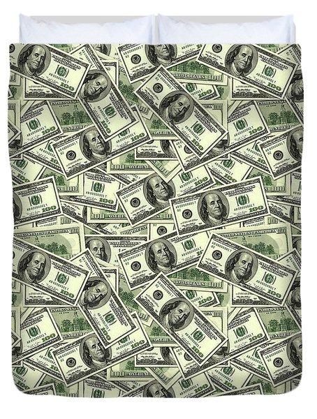 A Hundred Dollar Bill Banknotes Duvet Cover