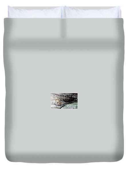 A Hut In The Valley  Duvet Cover
