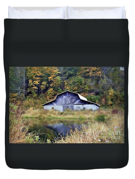 A Is For Autumn Duvet Cover by Benanne Stiens