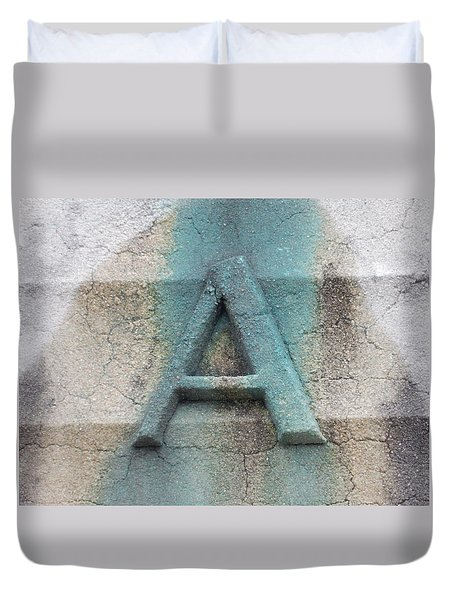 A Is For  Duvet Cover
