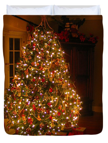 A Jewel Of A Christmas Tree Duvet Cover
