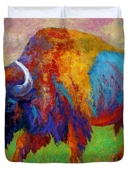 A Journey Still Unknown - Bison Duvet Cover