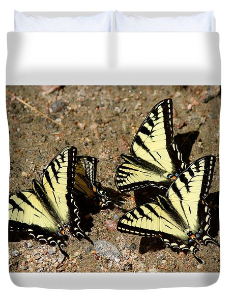 A Kaleidoscope Of Swallowtails Duvet Cover