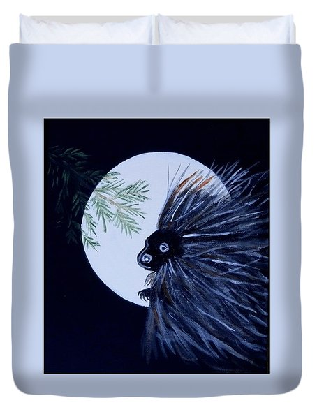A Knight In The Woods Duvet Cover
