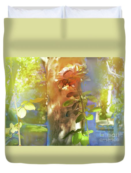 Duvet Cover featuring the photograph A La Sombra by Alfonso Garcia