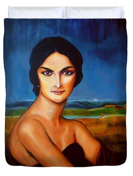 A Lady Duvet Cover