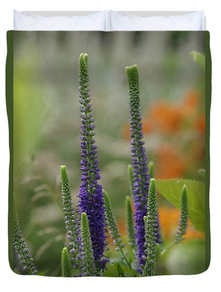 Duvet Cover featuring the photograph A Lancaster Garden by Greg Graham