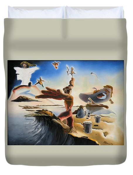 A Last Minute Apocalyptic Education Duvet Cover by Dave Martsolf