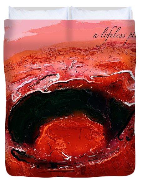 A Lifeless Planet Red Duvet Cover