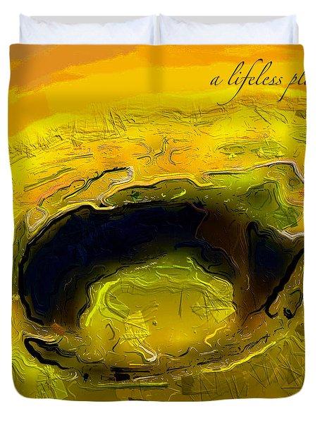 A Lifeless Planet Yellow Duvet Cover