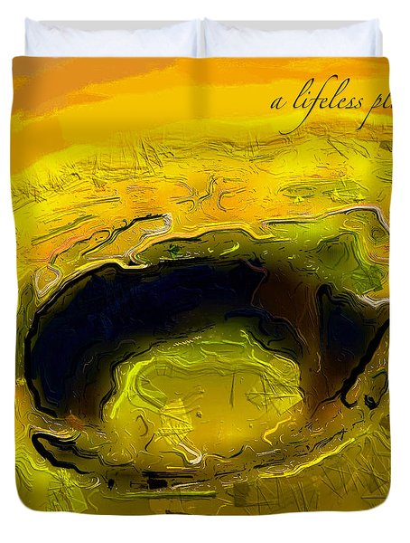 A Lifeless Planet Yellow Duvet Cover