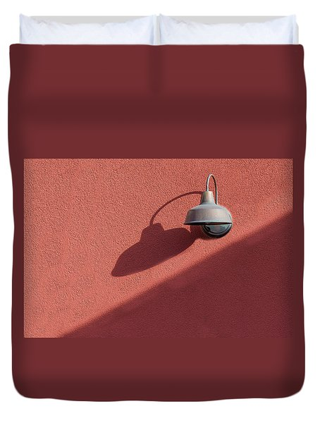 Duvet Cover featuring the photograph A Light Alone by Paul Wear