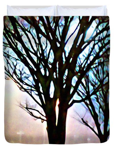 A Light Dusting Of Solitude Duvet Cover