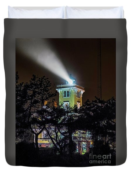 Duvet Cover featuring the photograph A Light In The Darkness by Nick Zelinsky