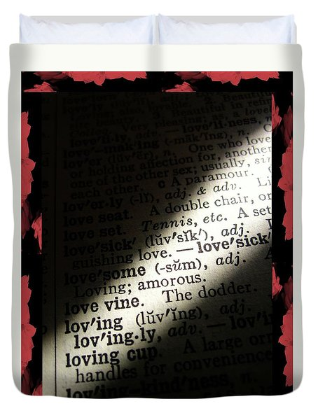 A Light On Love Duvet Cover