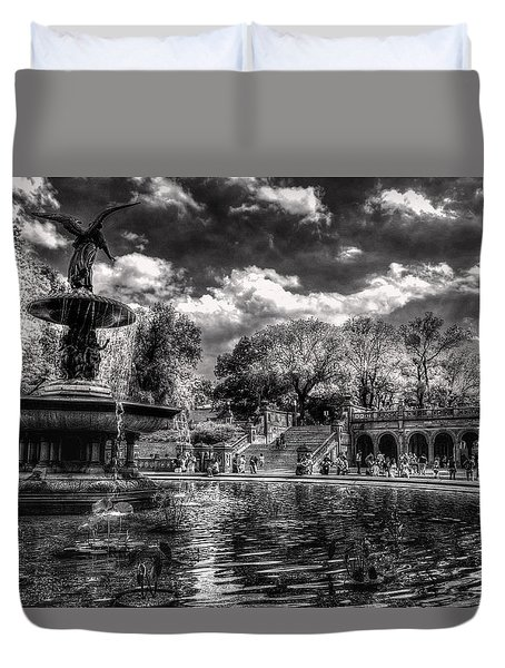 Duvet Cover featuring the digital art A Lily In Her Hand by William Fields