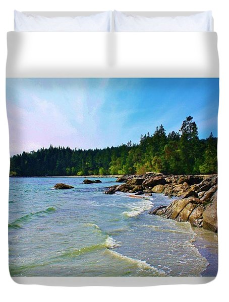 A Little Beach Time Last Week #beach Duvet Cover