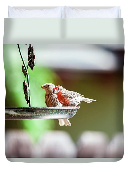 A Little Lunch Duvet Cover by Wade Courtney