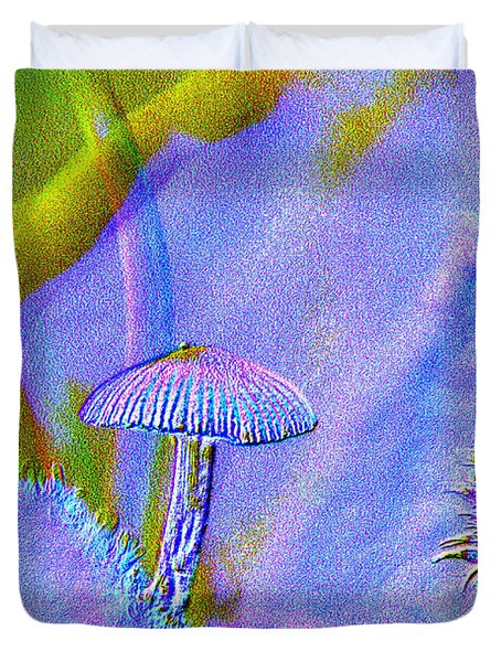 A Little Mushroom  Duvet Cover by Jeff Swan