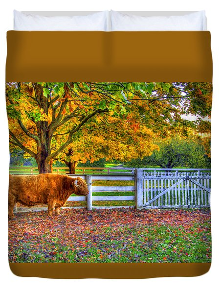 A Little Shaker Bull Duvet Cover