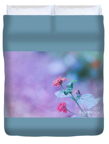 A Little Softness, A Little Color - Macro Flowers Duvet Cover