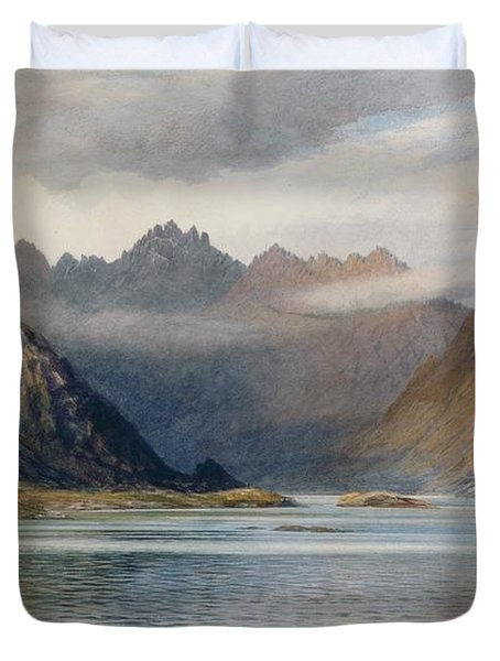 A Loch North Of Hadrian's Wall Duvet Cover by Walter Severn