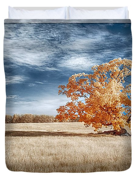 A Lone Tree Duvet Cover
