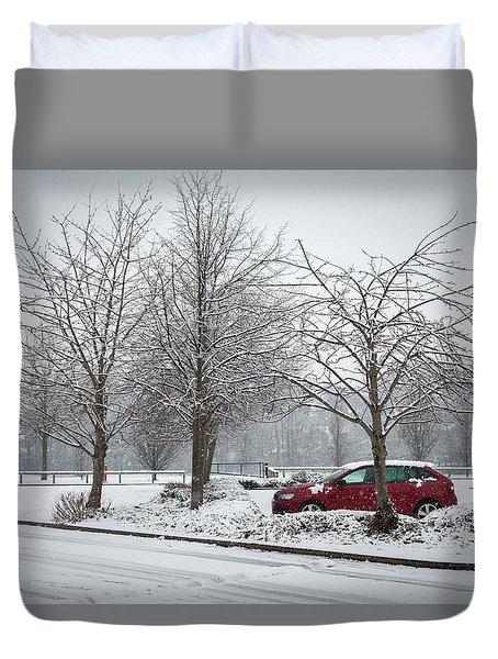 A Lonely Commute Duvet Cover