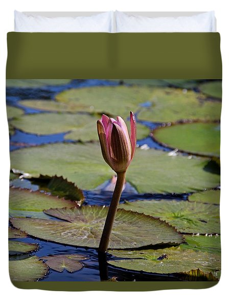 Duvet Cover featuring the photograph A Lonely Vigil by Michiale Schneider