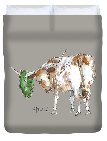 A Longhorn Christmas Leader, Come On In Duvet Cover