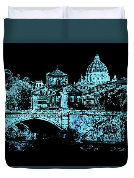A Look At History - Rome 2 Duvet Cover by Andrea Mazzocchetti