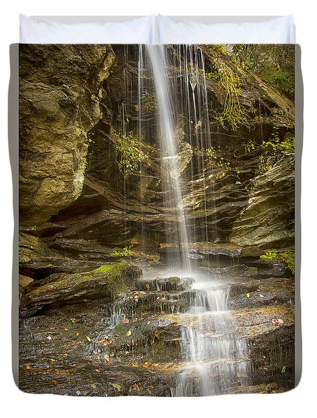 Duvet Cover featuring the photograph A Look At Window Falls by Bob Decker