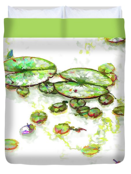 A Lotus Leaf Duvet Cover by Lanjee Chee