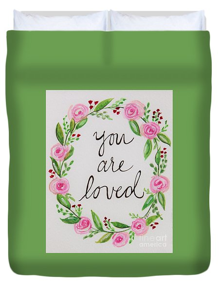 A Love Note Duvet Cover