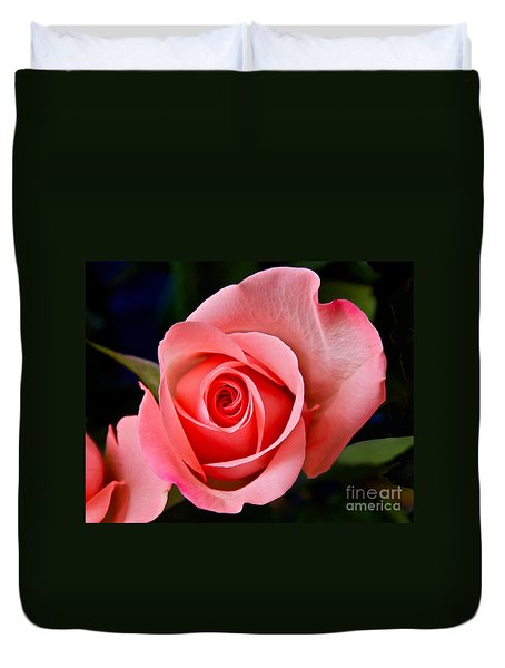 A Loving Rose Duvet Cover by Sean Griffin