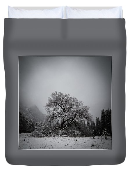 Duvet Cover featuring the photograph A Magic Tree by Lora Lee Chapman