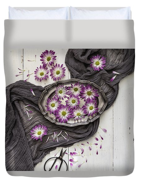 Duvet Cover featuring the photograph A Magical Moment by Kim Hojnacki