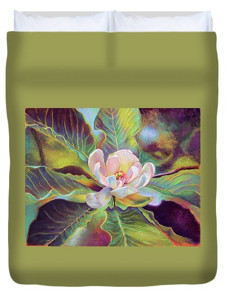 A Magnolia For Maggie Duvet Cover by Susan Jenkins