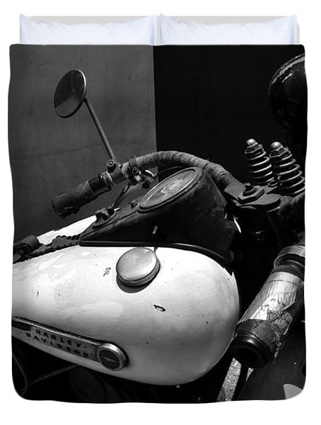 A Mans Harley Duvet Cover by David Lee Thompson