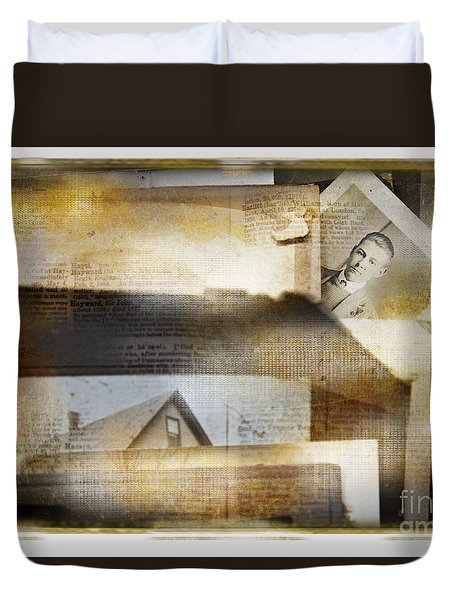 Duvet Cover featuring the photograph A Man's Story by Craig J Satterlee