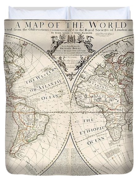 A Map Of The World Duvet Cover